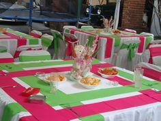 decoracione de mesas evento bienvenida a la bebe