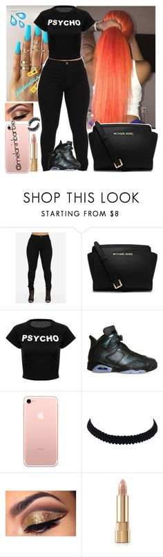 """""""Psycho"""" by xmelaninprincessbarbiex ❤ liked on Polyvore featuring Michael Kors, NIKE and Dolce&Gabbana"""