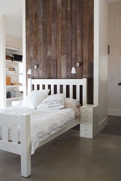 Beautifully Organized: Bedrooms - This look is good except for the Nietzsche pillows.