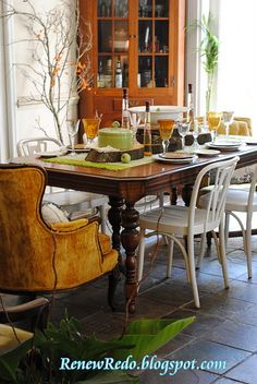 Fall  inspired dining rooms