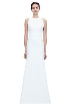 Beautiful fitted long dress with hand embroidered back.  Made out of soft crepe fabric.  Oh, that Victoria Beckham is bloody brilliant. #stunningsimplicity