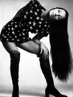 Cher photographed by Richard Avedon for US Vogue, 1969.