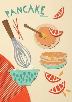 paper cut food illustration - Google Search