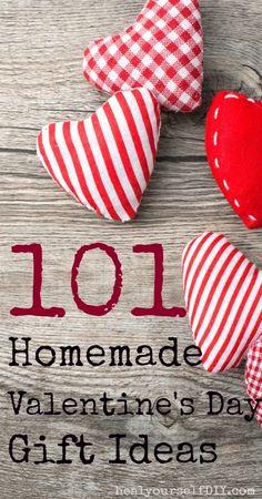 101 Homemade Valentine's Day Gift Ideas | www.healyourselfDIY.com