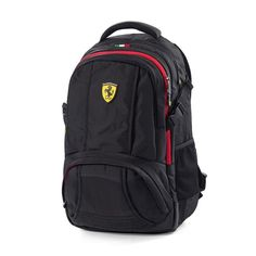 ba84ca44c0 Ferrari Black Sporty Backpack w/Scuderia Ferrari Logo Badge on Front of Bag