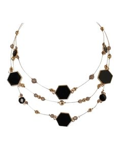 Cleo - Hexagon Beaded Wire Necklace