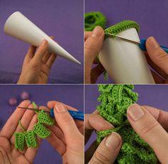 Patrones Crochet: Motivos solo de Navidad en Crochet