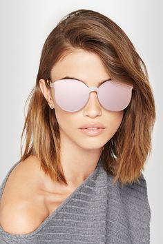 Karen Walker - Star Sailor Superstars round-frame acetate and rose  gold-tone mirrored sunglasses cf55d95cb75e