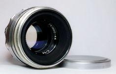 HELIOS 44 2/58 white silver USSR Russian Lens M39 mount 13 blades  #Zenit