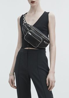 ALEXANDER WANG BALLCHAIN ATTICA FANNY PACK Shoulder bag Adult 12_n_r Leather Fanny Pack, Hip Bag, Fashion Project, Cute Casual Outfits, Stylish Outfits, Alexander Wang, Leather Men, High Fashion, Fashion Accessories