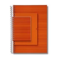 "NAVA Design. Milano 2003. '""3 UP"" Sketch Books +Design Plus 2003  A4, A5, A6 Paper, spiral bound bound together so they can be used all at the same time."