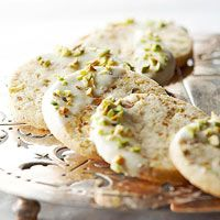Salty pistachios are the perfect counterbalance for sweet but subtle white chocolate and vanilla bean. Use a food processor to quickly and evenly chop the pistachios.