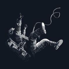 https://www.behance.net/gallery/25614875/Death-By-Black-Hole-Freefall-Astronaut-Illustration