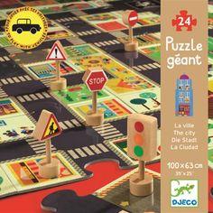 puzzle autodráha, značky - Adam!