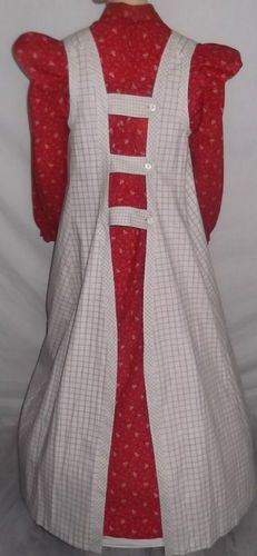 1880s apron - really wish I could see the front of this as well.