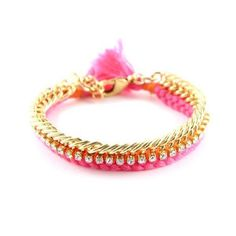Celebutante Bracelet In Pink and Orange