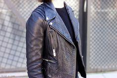 Trini | The Kooples leather jacket black details