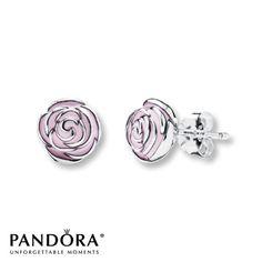 Pandora Earrings Rose Garden Sterling Silver