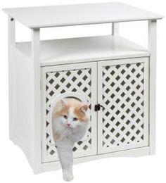 Der Katzenschrank Helena ist eine elegante Möglichkeit die Katzentoilette zu verstecken. Der Katzenschrank Helena eignet sich perfekt als Katzentoilette oder auch als Schlafhöhle, die Innenmaße betragen 54 x 38 x 40 cm. Passende Katzentoilette mit Rand 0701080998. Egal wo, Helena lässt sich durch sein schlichtes Design überall in Ihrer Wohnung integrieren und bietet zugleich Stauplatz für diverse Katzen- oder auch Badeutensilien. Zur Reinigung können beide Türen geöffnet werden. Mit Hilfe…