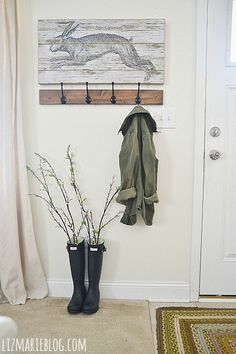 Looking for something cute to put outside my front door for spring/summer. This might work. Need the right wellies.