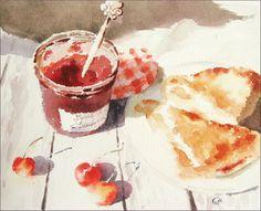 Cherry Turnovers by Maria Stezhko