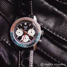 Chequered Flag - A circa 1969 #Heuer #Autavia GMT Chronograph (ref.2446C) with a Valjoux 72 movement - Find it now at http://ift.tt/1qIwSwQ