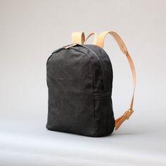 Joshu+Vela — Zip Backpack - Black Waxed ($200-500)