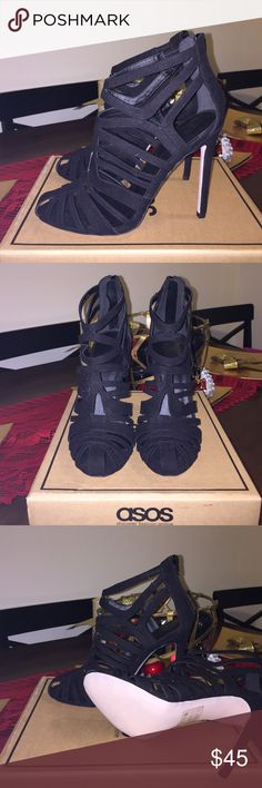 """BNIB CAGED HEELS BNIB Sexy caged heels from ASOS  NEVER WORN  4.5"""" heel height  Comes with box ASOS Shoes Heels"""