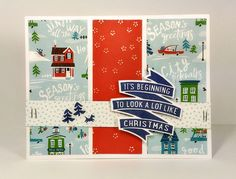 CTMH City Sidewalks, C1656 Joy to you and me Stamp set, Confetti Star embossing folder, Christmas Card 2016