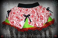 Girls Christmas skirts...Complete!! :0)