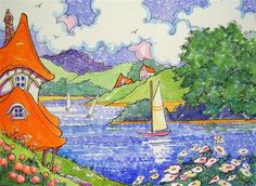 """Lakeside Afternoon""  by Alida Akers"