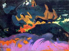 Paul Gauguin - Post Impressionism - Tahiti - Près de la mer - 1892
