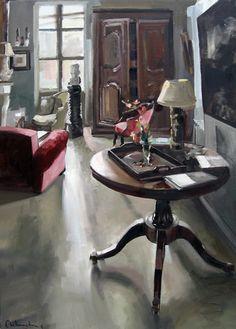 Huile sur toile 116  x 81 cm / Oil on canvas  45,7 x 31,9  inches De Christoff Debusschère