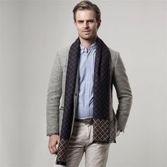 Business Plaid Cashmere Men's Scarf