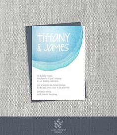 ♥ CLICK NOW TO SAVE 10% (Coupon code: PIN10) ▷ Watercolor Wedding Invitation DIY // by JadeForestDesign on Etsy