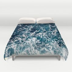 Blue Ocean Surf Duvet Cover/ Bedding/ by KaliLainePrintShop