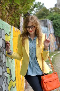 yellow blazer - in my closet, just trying to decide if i want to wear it