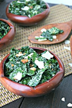 Healthier Kale Caesar Salad by everdaymaven. Adapted from Dr. Weil's Kale Salad: A little less rich than the usual dressing but nonethless wonderfully satisfying. #Salad #Kale_Caesar #Healthy