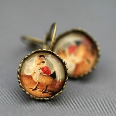 Chick In A Kerchief Earrings,Fab.com