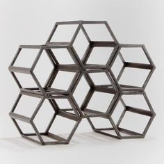 WorldMarket.com: Black Hexagonal Wine Rack