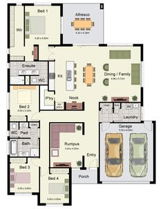 The Hume 263 is a spacious family home with four bedrooms and two bathrooms.