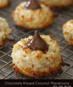 Chocolate Kissed Coconut Macaroons