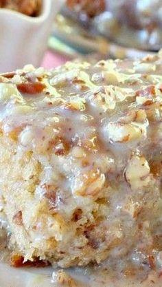 Southern Pecan Praline Cake Recipe ~ A sensational cake!
