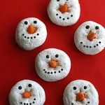 Snowman Donuts for Frugal Christmas Morning Breakfast!