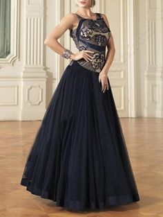 Check out what I found on the LimeRoad Shopping App! You'll love the Navy blue net embroidered stitched suit. See it here http://www.limeroad.com/products/10978526?utm_source=58e0080080&utm_medium=android