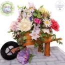Floral wheelbarrow - Gardens of the World Collaboration
