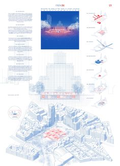 Gallery of These are the competing proposals to remodel the Plaza España in Madrid - 55 - สถาปัตยกรรม - Plans Architecture, Architecture Panel, Architecture Graphics, Architecture Drawings, Architecture Career, Architecture Diagrams, Landscape Diagram, Landscape And Urbanism, Landscape Designs