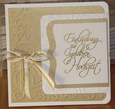 Einladungskarte Für Eine Goldene Hochzeit   Teil 1 Mehr Infos Unter  Http://klein