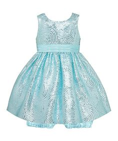 Another great find on #zulily! Aqua Sequin Swirl Dress & Bloomers #zulilyfinds