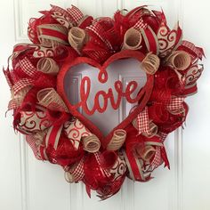 A personal favorite from my Etsy shop https://www.etsy.com/listing/488953786/love-wreath-valentines-wreath-valentines